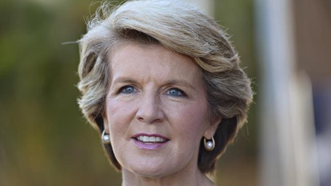 Behind Julie Bishop's steely look is a woman with warmth.