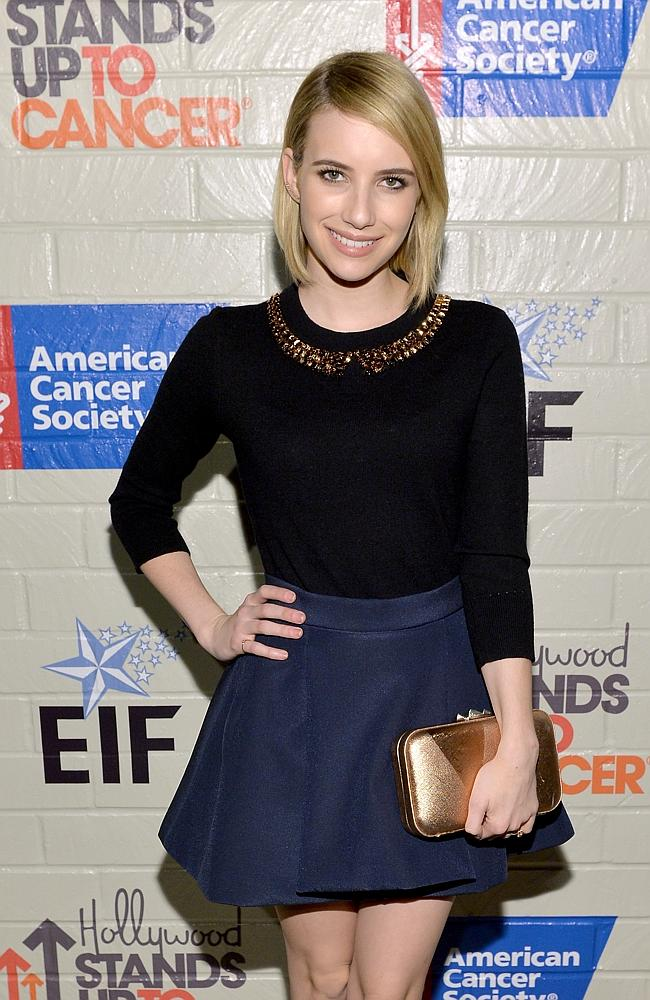 Next generation ... Actress Emma Roberts is yet to comment on the death of her aunt, Nancy Motes.