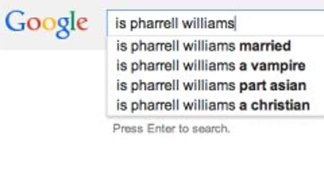 Is Pharrell Williams a vampire? NO.