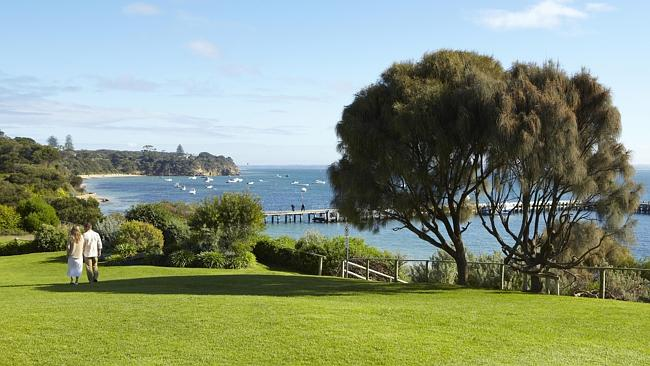 From pier to pub is not so far in Portsea, where the views are great all year. Picture: Tourism Victoria