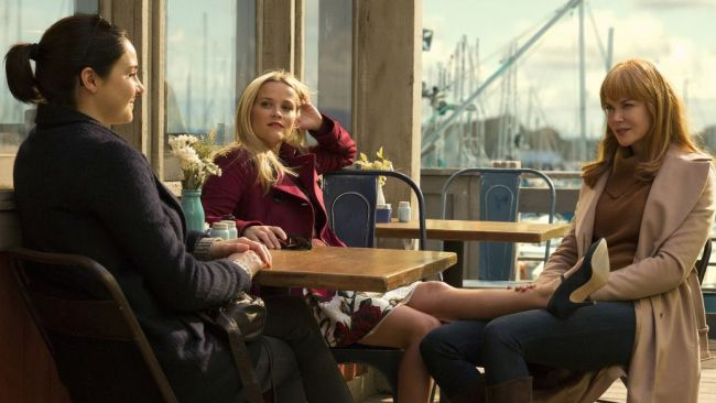 Shailene Woodley, Reese Witherspoon and Nicole Kidman in Big Little Lies. Photo: HBO