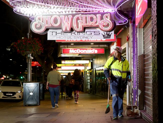 Businesses in Sydney's nightspots have suffered from the lockout laws. Picture: Jonathan Ng