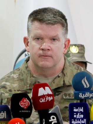 Colonel John Dorrian, spokesman for the US-led international coalition against Islamic State. Picture: AFP/Sabah Arar