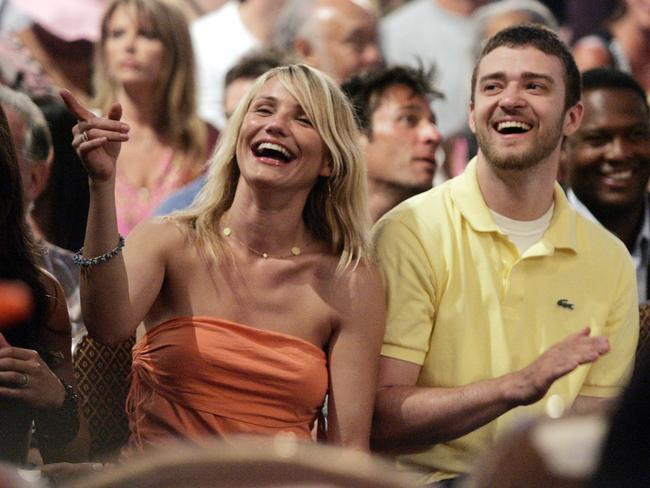 Still close ... Cameron Diaz with singer Justin Timberlake in 2005.