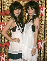 <p>Australian singers, The Veronicas arrive for the MTV Australia Awards in Sydney, Saturday, April 26, 2008. (AP Photo/Rick Rycroft) Pic. Ap</p>