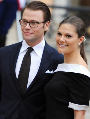 Princess Victoria of Sweden and her husband Prince Daniel. Picture: AFP