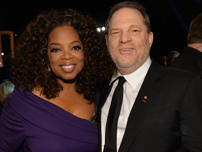 Oprah Winfrey and producer Harvey Weinstein worked together on two movies. Picture: Michael Buckner/WireImage