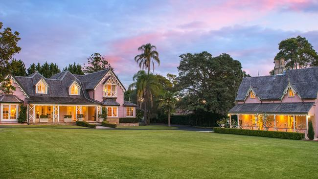 THE PINK-HOUSE: Wellings, a 200-year-old estate in Burwood is due to hit auction in August.