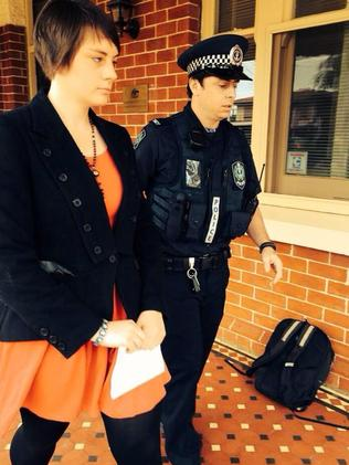 Police arrest Love Makes a Way protesters at Federal MP Christopher Pyne's office at St Morris. Picture: Facebook/Love Makes a Way