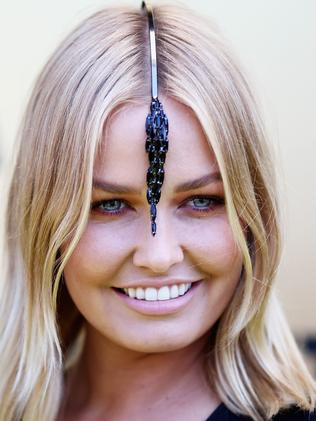 Lara Bingle at last year's Derby Day. Photo by Ryan Pierse
