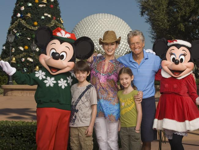 Family ... Catherine Zeta-Jones and Michael Douglas and their children, Dylan, 10, left, and Carys, 7, in a 2010 photo.