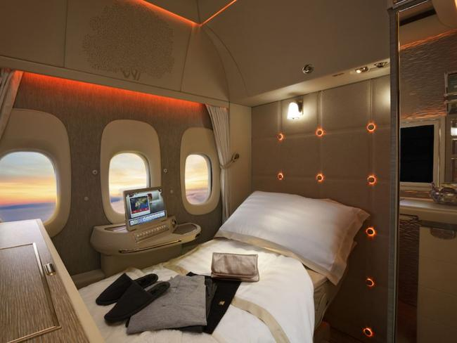 Not a bad way to spend a long-haul flight. Picture: Emirates