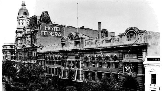 1954: The Federal Hotel and Coffee Palace was set up as one of the city's grander Tempera
