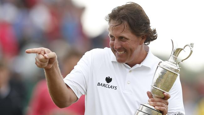It took Phil Mickelson 20 years to break his Open duck.