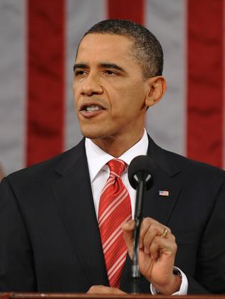 Back in time. State of the Union address on January 1, 2010. Picture: AP