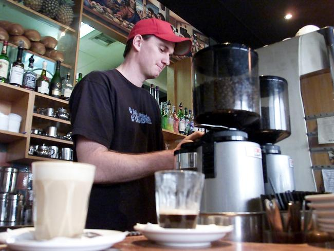 Cafe workers from abroad might no longer be means to turn permanent residents in Australia. Picture: Angelo Soulas.