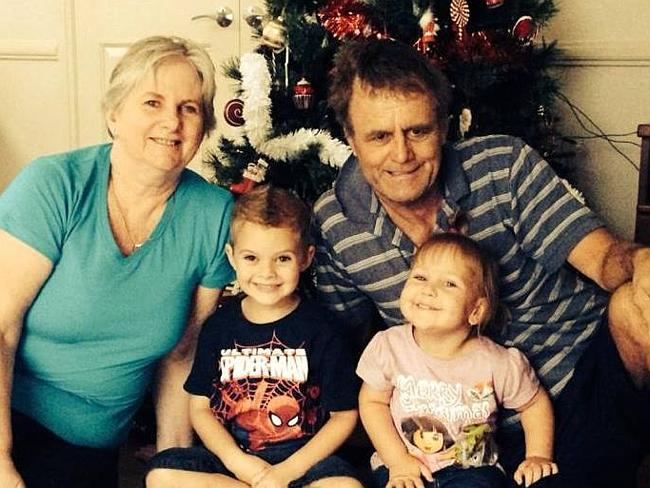 Devoted grandparents ... Bob and Cathy Lawton pictured with their grandchildren. Picture: Facebook