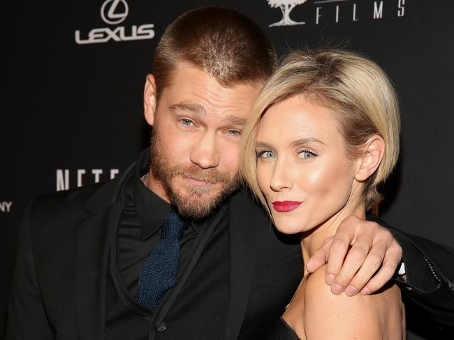 Happier times ... Actor Chad Michael Murray and Nicky Whelan. Picture: Getty Images
