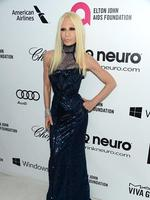 Fashion designer Donatella Versace attends the 22nd Annual Elton John AIDS Foundation's Oscar Viewing Party. Picture: Getty