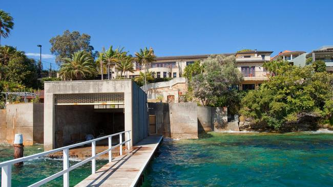 38B The Crescent is one of the biggest waterfront homes in Vaucluse.
