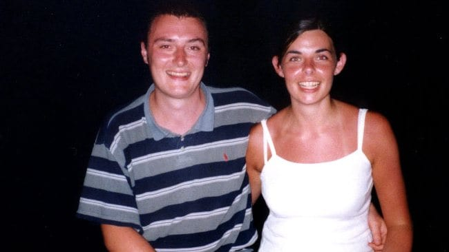 English tourists Peter Falconio with his girlfriend Joanne Lees in an undated photo.