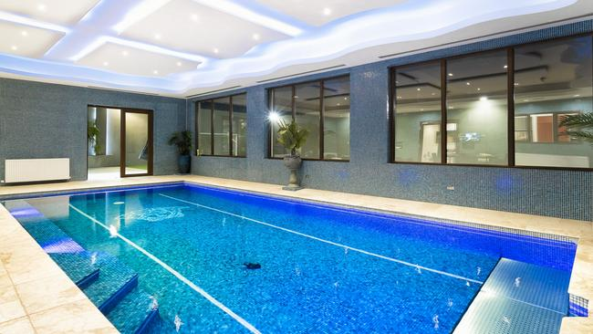 The indoor pool certainly makes a splash.