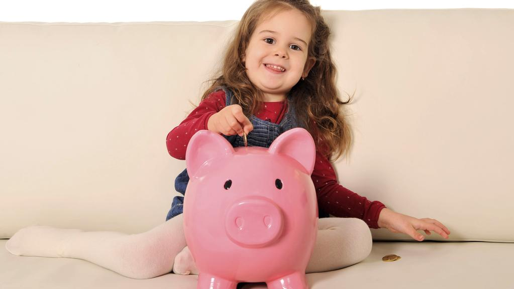 Financial experts say it's important your children start to learn about savings from a young age. Picture: Supplied