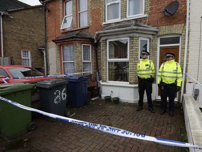 Guard duty ... Counter-terror police detained the men, aged 19 to 27, overnight at locations across west London and High Wycombe in the Thames Valley area, Scotland Yard said. Photo: Andrew Matthews/PA Wire
