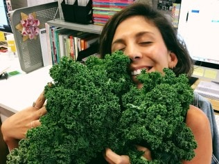 Ashleigh, and her new-found love, kale. Image: Instagram