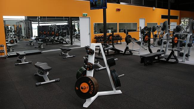 State of the art gym at the GWS Giants' training complex. Picture: Gregg Porteous