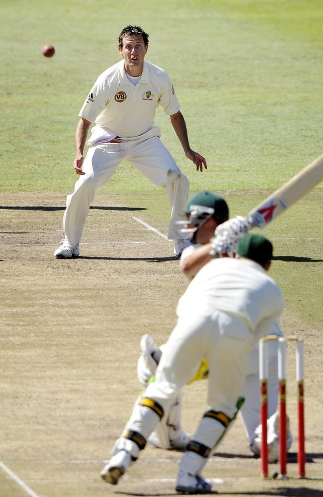 Bryce McGain played one and only Test for Australia, taking the worst ever figures in an innings on debut — 0-149 against South Africa.