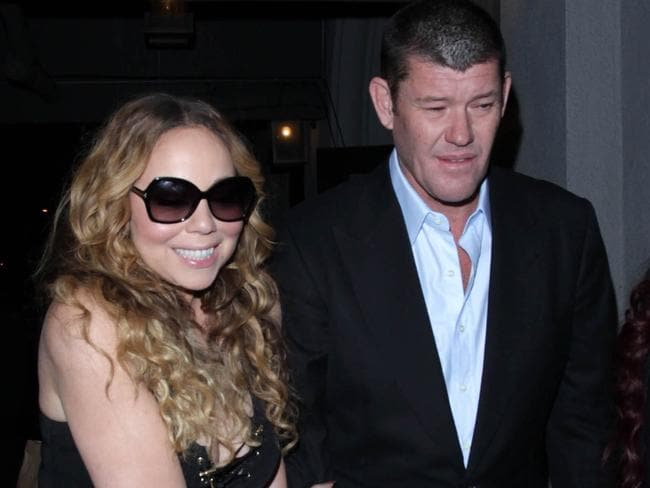 Mariah Carey and James Packer in May in Los Angeles, California. Picture: SMXRF/Star Max/GC Images