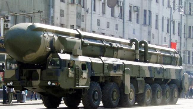 The Russian SS-18 ?Satan? missile.