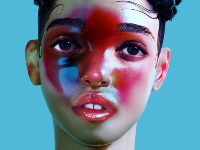 """Autralia TBC"" ... the star has hinted at an appearance at The Laneway Festival. Picture: Supplied  <b>REVIEW - LP1 </b>  <b>FKA TWIGS [XL/REMOTE CONTROL]</b>  <b>****</b> Just like Our Courtney, Tahliah Barnett has an original vision and the blogosphere is picking up what she's putting down. FKA Twigs' debut album basically scalps you, scoops out the grey matter and replaces it with violet-hued angel dust.  <i>Preface</i> smudges up your face with East London grease,  <i>Lights On</i> is about mistrust in the bedroom,  <i>Two Weeks </i>is stutter trap and the dilapidated arrangements are taped together with lust and regret. Throughout LP1 the former video dancer puts her heels into suitors' chests (see:  <i>Numbers</i>), twisting until it bleeds. Twigs chooses mood over charisma but this is just an artist's way of keeping us at (ch)arm's distance. Listen at your own peril.  <b>SOUNDS LIKE:</b> Purity Ring kidnapping Janet Jackson  <b>IN A WORD: </b>deceitful  <b>Hear:<i> LP1</i> (XL/REMOTE CONTROL) out today.</b>  <b>See: Laneway Festival, Jan-Feb 2015. <a href=""http://www.lanewayfestival.com"">lanewayfestival.com</a></b>"