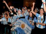 The tension starts to grow for Argentina's fans at La Boca restaurant, as their team takes on Germany in the World Cup final. Hoping for the best are, from left, Daniel Ryan, Eli Barbalace, Daiana Barbalace and Pippo Belmonte. Picture: Noelle Bobrige