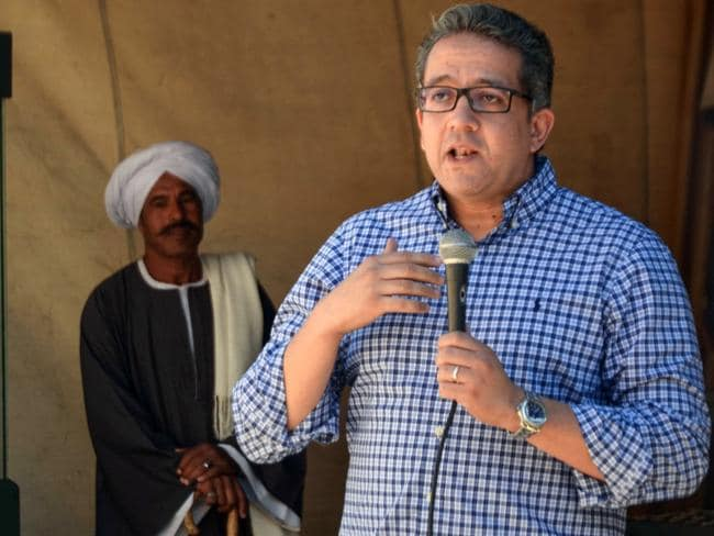 Egyptian Antiquities Minister Khaled al-Anani. Picture: AFP