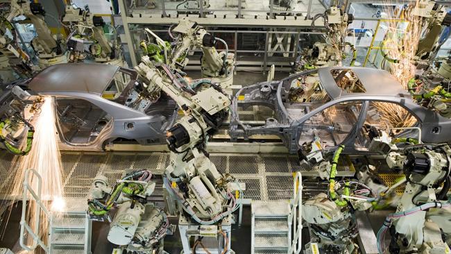 Inside Toyota Australia's Altona manufacturing plant.