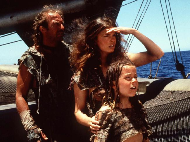 Tripplehorn's varied career saw her appear with Kevin Costner and Tina Majorina in Waterworld. Picture: Supplied
