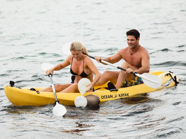 Apollo and Simone go on a date on Bachelor in Paradise. Picture: Channel 10