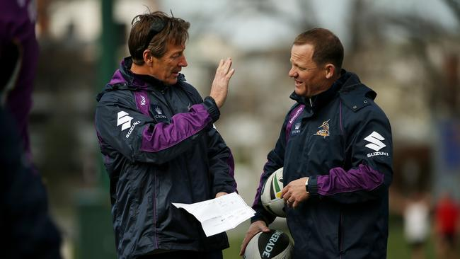 Craig Bellamy talks with Kevin Walters