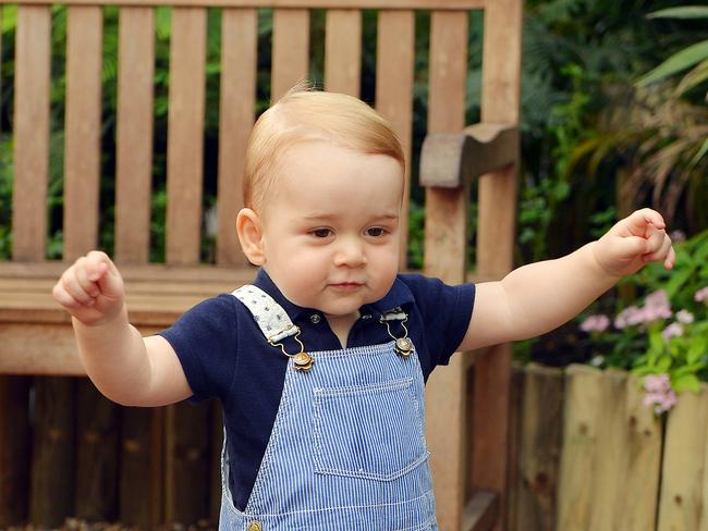 Birthday boy ... Prince George celebrated his first birthday at Kensington Palace.