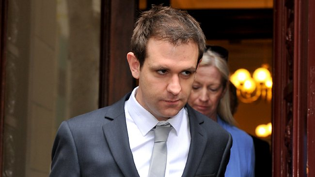Jill's husband Tom Meagher leaves the court at the end of the hearing. Picture: Hargest Jon