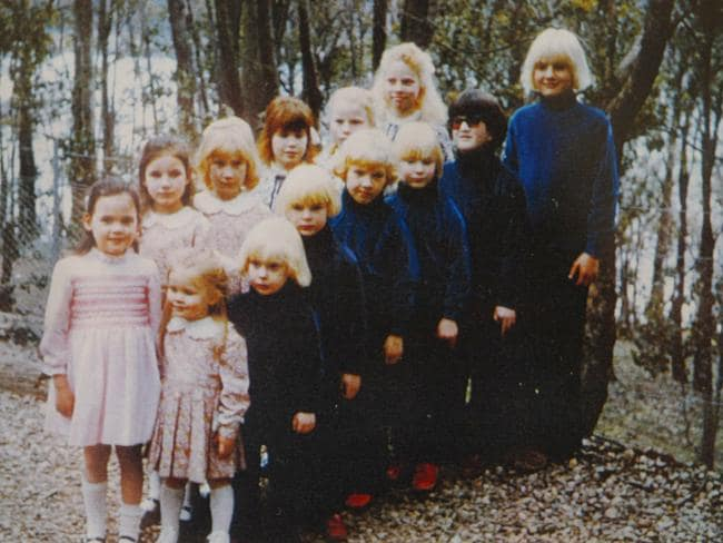 Some of the children in Anne Hamilton-Byrne's 'Family' sect.