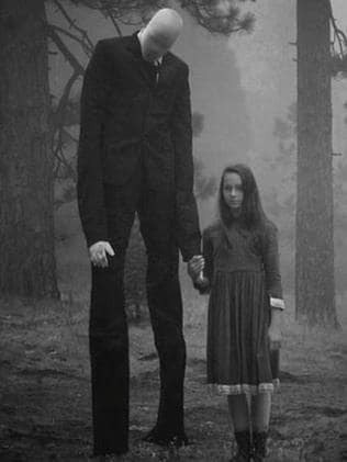 Fictional character Slenderman.