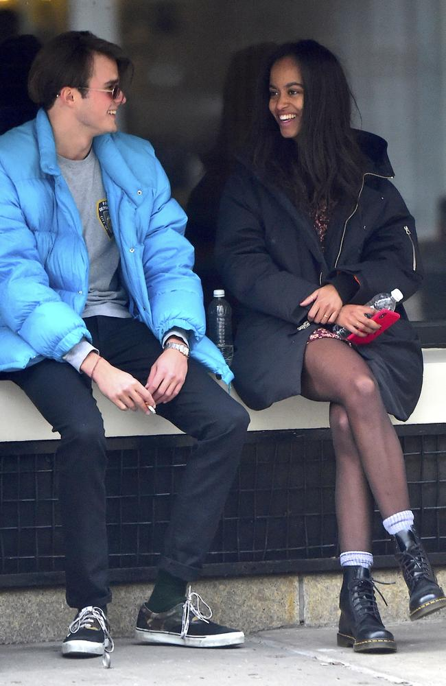 Malia Obama and boyfriend Rory Farquharson hang out in New York. Picture: Alo Ceballos/GC ImagesSource:Getty Images