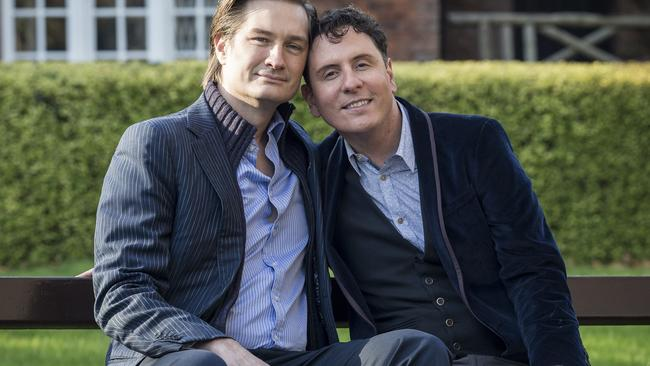 Cormac Gollogly and Richard Dowling were the first gay couple to wed in Ireland. Picture: Ella Pellegrini