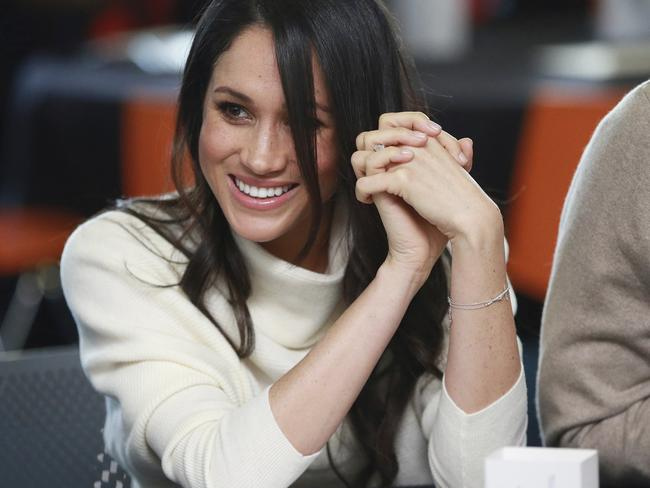 Meghan Markle appeared with Prince Harry on International Women's Day. Picture: Ian Vogler/Pool via AP.