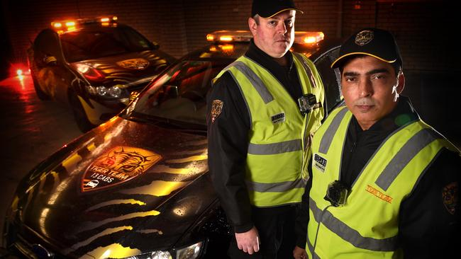 Tiger Team taxi response team members Wasim Qureshi and Stephen Templer. Picture: Tony Gough