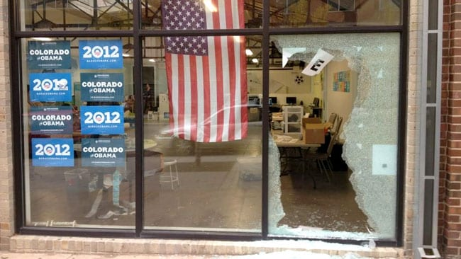 Barack Obama campaign office, shot