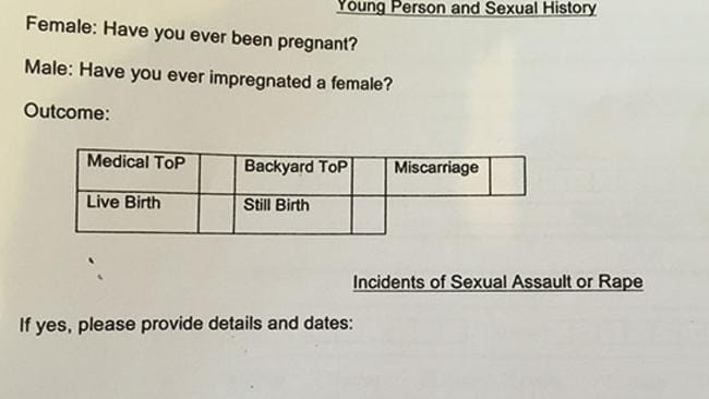 Rape is so common in South Africa, it's included on an application form.